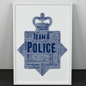 [tag] Personalised Police Crest Word Art Print