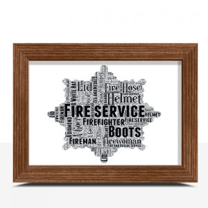 [tag] Fire Service Crest Word Art Print