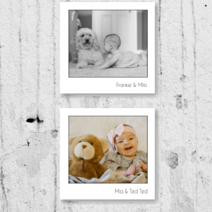 Family X2 Retro Style Photo Canvas Display