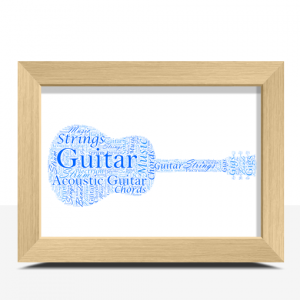 Personalised Guitar Word Art Print