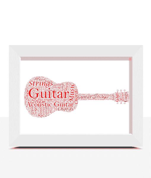 Music Personalised Guitar Word Art Print