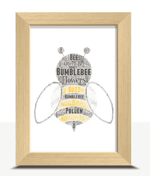 [tag] Personalised Bumblebee Word Art