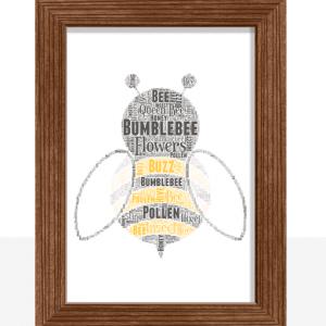 [tag] Personalised Bumblebee Word Art