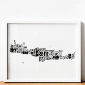 Personalised Crete Word Art Map