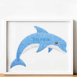 Animal Prints Dolphin Word Art Print