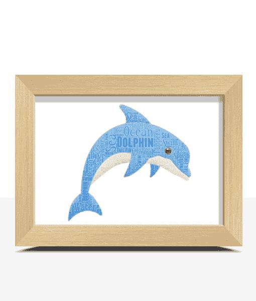 Dolphin Word Art Print Animal Prints