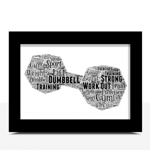 Dumbbell Word Art Print