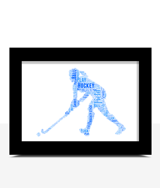 Sport Female Hockey Player Word Art