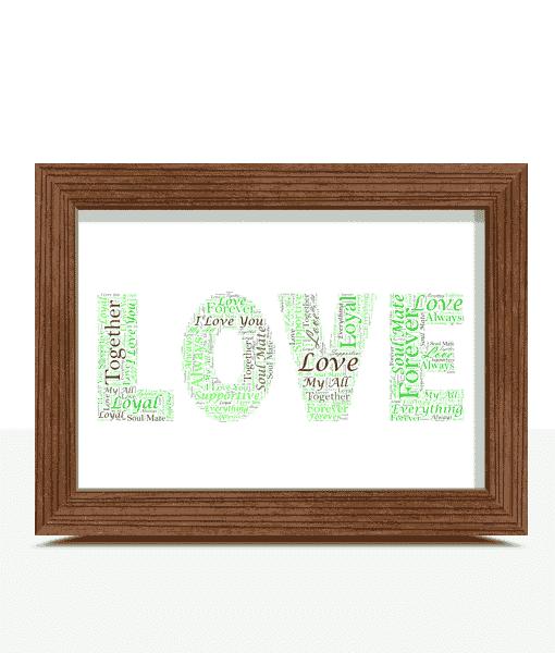 Personalised LOVE Word Art