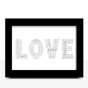 Personalised LOVE Word Art