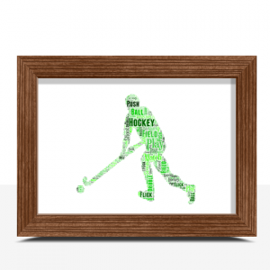 Sport Male Hockey Player Word Art