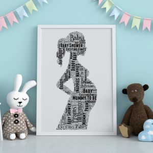 Baby Shower Gifts Mum To Be Word Art