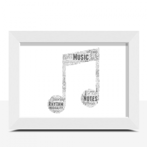 Personalised Music Note Word Art