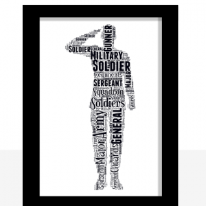 Personalised Soldier Word Art Gift Military Gifts