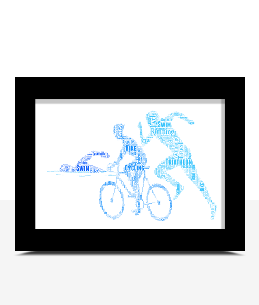Gifts For Him Personalised Triathlon Word Art Print