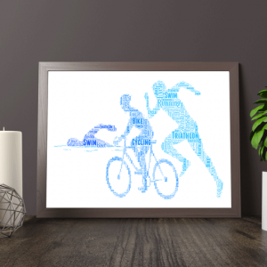 Personalised Triathlon Word Art Print