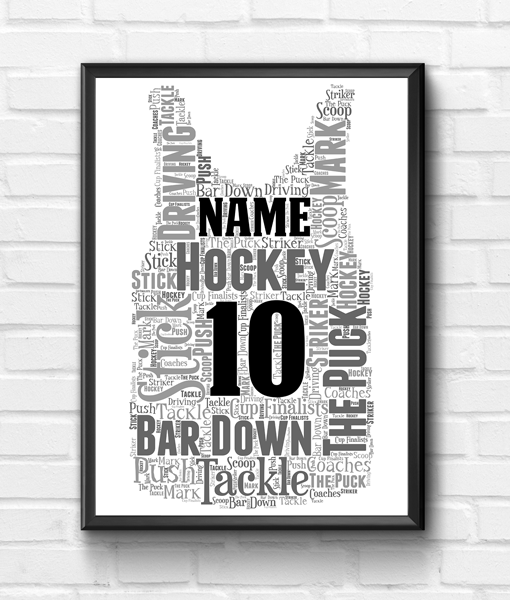 Sport Hockey – Basketball Vest Word Art Print