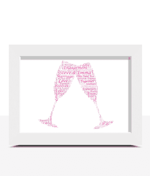 Anniversary Gifts Personalised Champagne Flutes Word Art