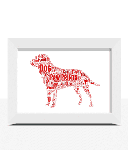 Animal Prints Personalised Dog Word Art Print