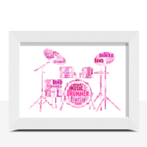 Personalised Drum Kit Word Art