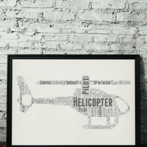 Travel Personalised Helicopter Word Art