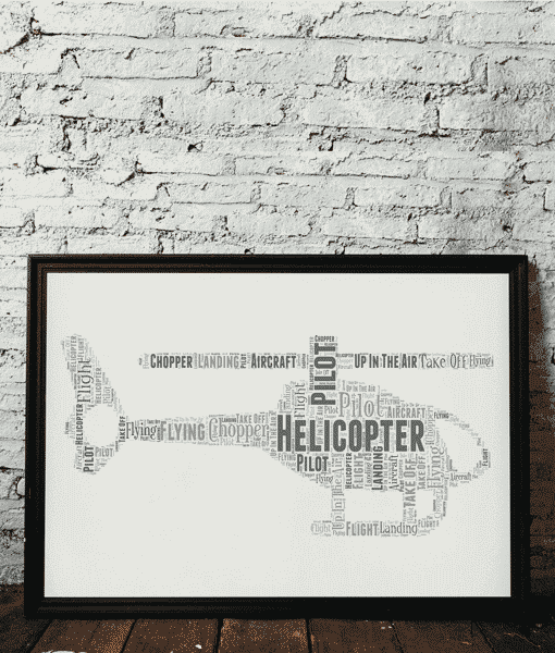 Personalised Helicopter Word Art