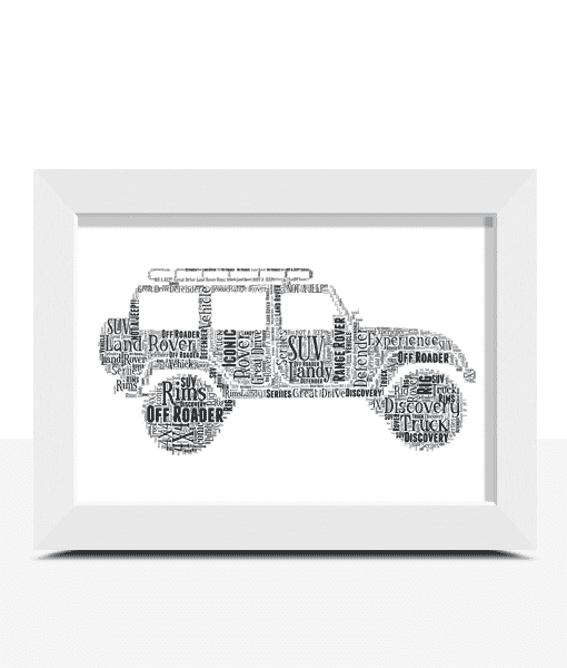 Personalised Land Rover Word Art Travel