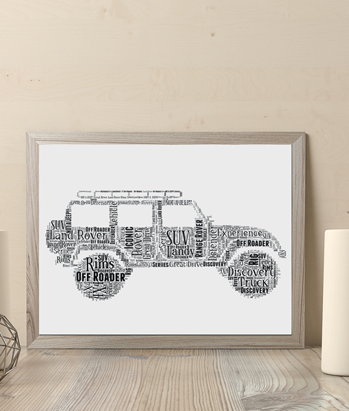 Personalised Land Rover Word Art