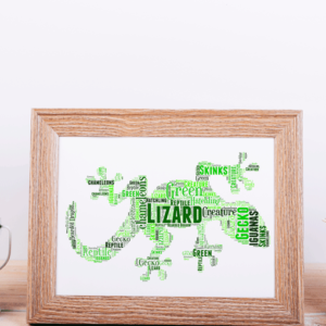 Gecko Lizard Word Art