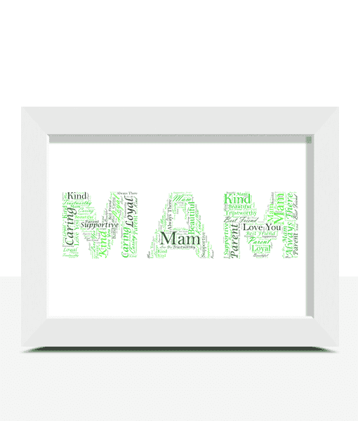 Gifts For Mum Personalised MAM Word Art