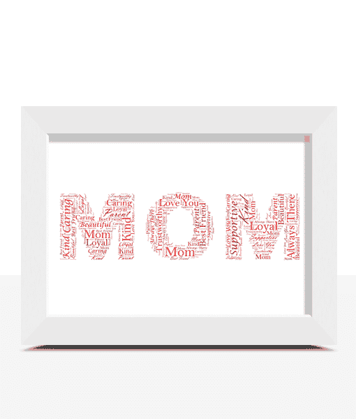 Personalised MOM Word Art