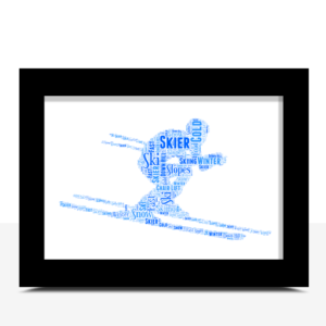 Sport Personalised Skier Word Art