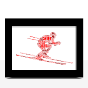 Engagement Gifts Personalised Love Heart Word Art Print