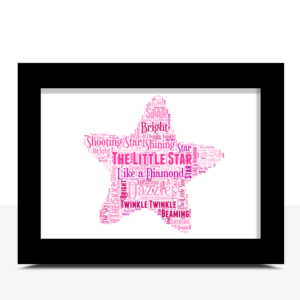 Gifts For Children Star Word Art Print