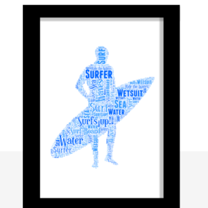 Sport Personalised Surfer Word Art