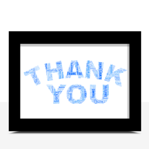 Personalised THANK YOU Word Art Gift