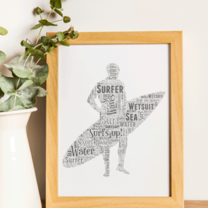 Personalised Surfer Word Art