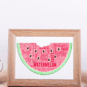 Watermelon Word Art