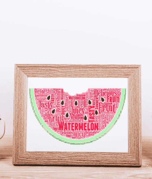 Food And Drink Watermelon Word Art
