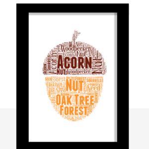 Acorn Word Art