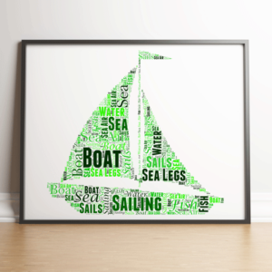 Personalised Sailing Boat Word Art