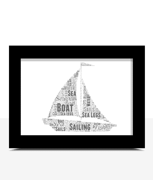 Retirement Gifts Personalised Sailing Boat Word Art