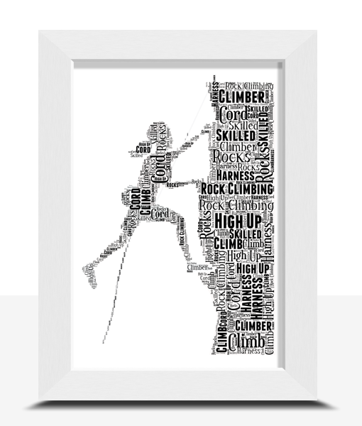 Female Rock Climber Word Art