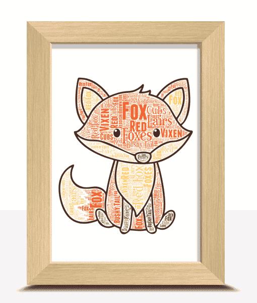 Personalised Fox Word Art