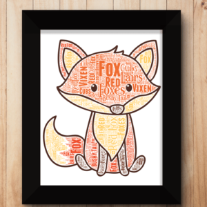 Personalised Fox Word Art