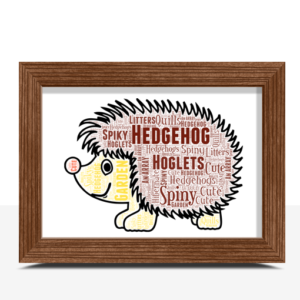 Hedgehog Word Art