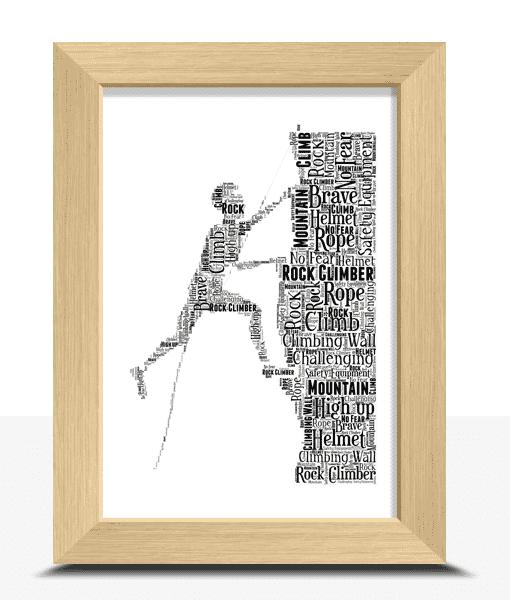 Male Rock Climber Word Art