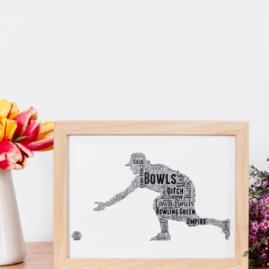 Lady Bowls Player Word Art Gift