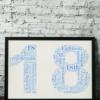 18th Birthday Word Art Gift
