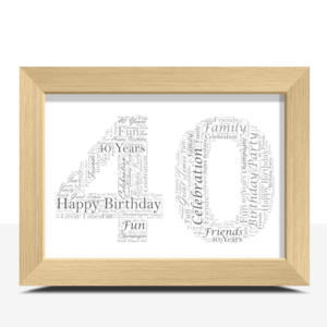 Anniversary Gifts 40th Birthday – Anniversary Word Art Gift